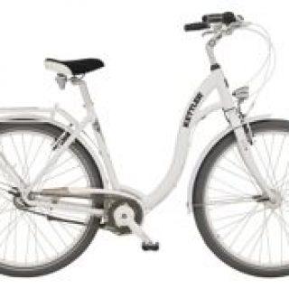 Miejski rower Kettler Layana z aluminiową ramą hardtail, mający 7 biegów, koła 28 cali.